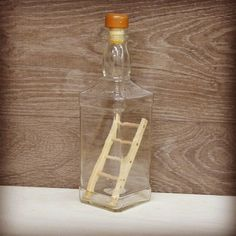 Ladder in a Bottle Trick (with Pictures) - Instructables Puzzle Crafts, Wood Crafts, Diy And Crafts, Wood Projects, Woodworking Projects, Projects To Try, Bottle Art, Bottle Crafts, Mind Puzzles