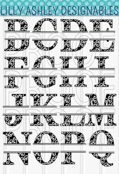 Monogram SVG Letter Set uppercase A-Z cutting files SVG/PNG/jpg monogram svg letter svg split letter svg split monogram alphabet Cricut Monogram Font, Monogram Maker, Monogram Alphabet, How To Make Signs, Making Signs, Chevron, Letter Set, Cutting Files, White Witch