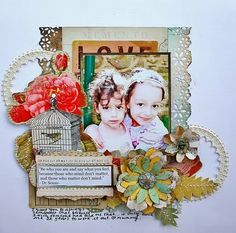 Vintage-using Glitz Designs papers and embellies
