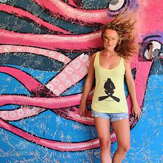 Yellow Tank With Scuba Diver Print Sea Creatures, Graffiti, Ocean, Tank Tops, Yellow, Tees, Artist, Inspiration, Style