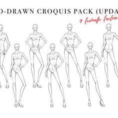 Fashion Sketchbook, Fashion Sketches, Female Croquis, Fashion Figure Templates, Marriage Couple, Standing Poses, Fashion Figures, Body Poses, Couple Portraits