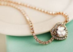 New Hot Selling Gold Plated Alloy Noble Rhinestone Chain Zircon Heart Bracelet #Unbranded #Chain