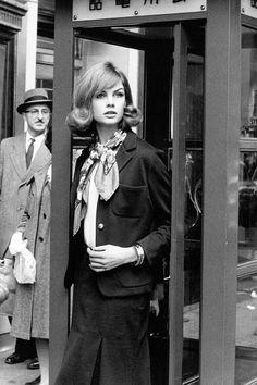 Jean Shrimpton, photographed by David Bailey, New York City, 1962.