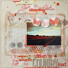love the artsy feel..good scrap layouts on this blog