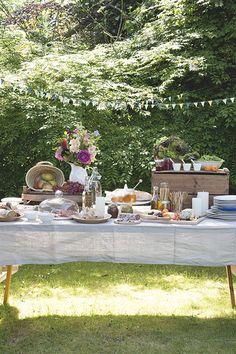 #garden #buffet   Dille & Kamille