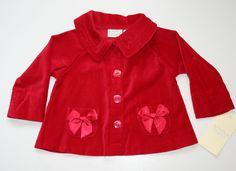 Red Velvet Button Down Jacket NEW