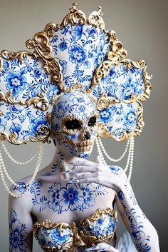 Skull Makeup, Makeup Art, Fantasy Makeup, Fantasy Art, Arte Fashion, Foto Poster, Fantasy Costumes, Character Design Inspiration, Costume Design