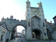 Monk Bar, one of the medieval gates into the city of York, England