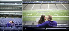 Engagement Session at Kansas State University. Bill Snyder Family Stadium. Erin Kata Photography.