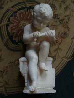 Antonio Canova Figur Knabe Alabaster Marmor? um 1880 Historismus Klassizismus
