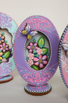 3-D Purple Faberge Egg Cookie on Cake Central