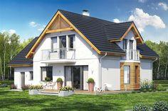 projekt Baset 6 z garażem Home Fashion, Cabin, Interior Design, House Styles, Villas, Home Decor, Nest Design, Decoration Home, Home Interior Design