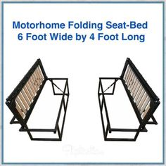 Motorhome folding seat-bed These seats pull out into a full x bed. They have been designed to fit at the rear of a Fiat Ducato, Peugeot Boxer, or Citroen Relay van. These vans have a wide body allowing the width, but could fit into many other vans Ducato Camper, Fiat Ducato, Peugeot, Motor Casa, Kangoo Camper, Van Bed, Camper Beds, Classic Campers, Gmc Motorhome