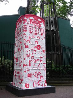 BT Art Box 'How Many People Can You Get into a Phone Box' by The Times