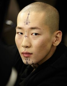 "damplaundry: ""Jo Won Jung at Berluti F/W 2016 "" We Are The World, People Of The World, Pretty People, Beautiful People, Portrait Fotografie Inspiration, Face Reference, Body Modifications, Interesting Faces, Drawing People"