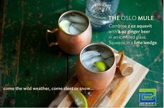 THE OSLO MULE- the perfect fresh and ‪#‎cocktail‬ drink for ‪#‎summer‬! Enjoy!