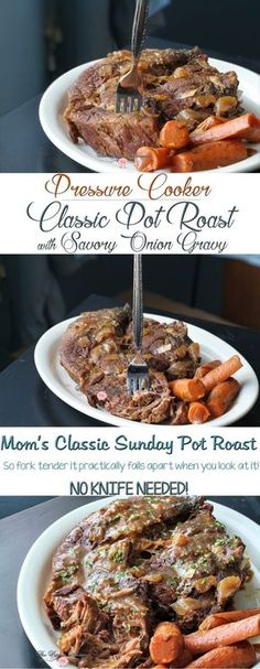 Pressure Cooker Mom's Classic Pot Roast with Savory Onion Gravy