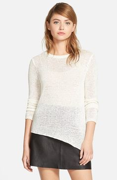cupcakes+and+cashmere+'Sonoma'+Asymmetrical+Pullover+Sweater+available+at+#Nordstrom