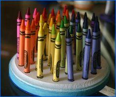 """Lines Across"": Wooden Crayon Peg Board"