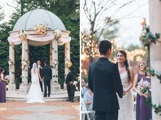Leigh-Ellen and Allen wedding ceremony at The Estate at Florentine Gardens, NJ. Captured by NY NJ wedding photographers Pearl Paper Studio.