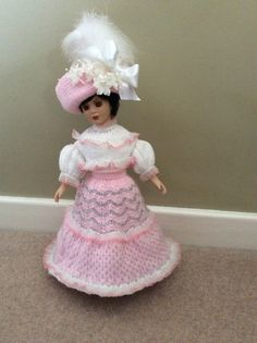 "Jacquay Yaxley Knitting Pattern 15/"" Doll Knitting Pattern Walk in the Park"
