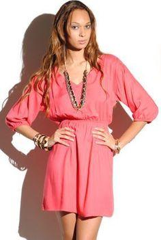 perfect coral dress! $34 at Katwalk