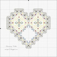 Humming Needles: Christmas Heart Ornament Pattern