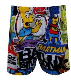 Bart Simpson Graffiti Art Boxer Shorts, $13.50  For the true fan of Bart Simpson, these boxers have it all! They are covered with images of Springfield's lovable menace from several episodes- playing video games, as the teacher's Pest and with a Kwik-E-Mart slushie, among others. These 100% cotton boxers are machine washable with an open edge fly and covered elastic waistband.