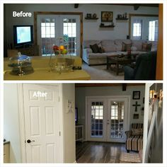 Love seeing the before and after kitchen and living room
