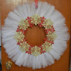 Tulle Christmas Wreath that I made.