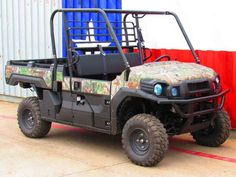 New 2017 Kawasaki Mule Pro-FX EPS Camo ATVs For Sale in Texas. 2017 Kawasaki Mule Pro-FX EPS Camo, 2017 Kawasaki Mule Pro-FX EPS Camo THE KAWASAKI DIFERENCE THE MULE PRO-FX EPS CAMO SIDE X SIDE FEATURES THE RICH PATTERNS OF REALTREE XTRA® GREEN CAMOUFLAGE THAT CAN HELP GET YOU INTO A PERFECT POSITION ON THE HUNT WITHOUT EVER BEING NOTICED. Massive Cargo Bed can fit a standard size 40x48 pallet with the tailgate closed Powerful 812cc 3-cylinder engine with massive torque, impressive pulling…
