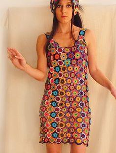 Mini Dresses – Circle'd Multicolored Dress – a unique product by SubRosa on DaWanda
