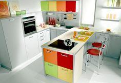cozinha colorida...