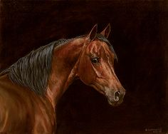 Lady - Horse  Original Painting by Chris Cummings