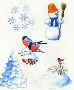 Winter Activities For Kids, Bring Up, Preschool Education, Pre School, Rooster, Snowman, Glass Art, Clip Art, Weather
