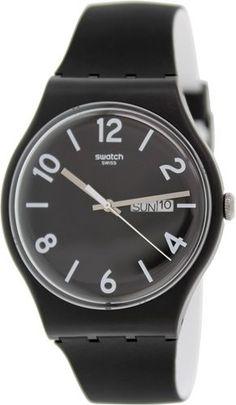 Swatch Men's Originals SUOB715 Black Silicone Swiss Quartz Watch   eBay
