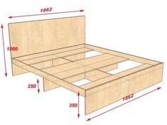Как сделать двуспальную кровать своими руками Bed Frame Design, Bedroom Bed Design, Bedroom Furniture Design, Bed Furniture, Pallet Furniture, Vintage Furniture, Dark Furniture, Wood Bedroom, Diy Bedroom