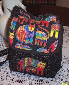 Backpack sewn by Judi Graf of Tyler, TX     Odyssey Pattern Backpack pattern by StudioKat Designs  @StudioKat Designs