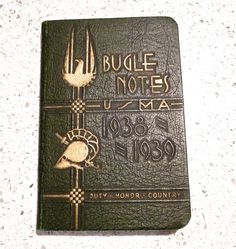 West Point Academy USMA Bugle Notes Book //  Rare  by FunkAndMore