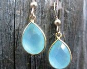 Blue Chalcedony Teardrop Earrings. $42 Has a matching necklace. Style Number 00042S