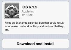 Apple lanza iOS 6.1.2. para solucionar nuevos problemas