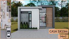 Small Modern House Plans, Modern Small House Design, House Front Design, Dream House Plans, Home Building Design, Building A House, Balcony Design, Facade House, Exterior Design