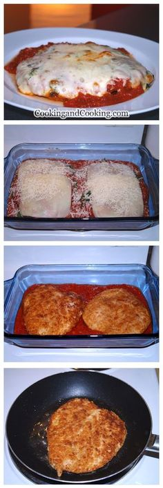 Chicken Parmesan Recipe. Tasted great!!! Husband loved it too! I just used a jar of tomato sauce instead of making my own, and it was actually a fairly simple recipe. Definitely making again!