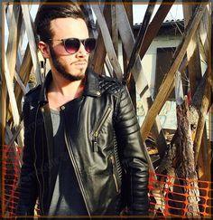 Lambskin Leather Jacket Genuine Mens Stylish Motorcycle Biker Black slim fit X84 #WesternOutfit #Motorcycle Leather Jacket Outfits, Lambskin Leather Jacket, Leather Jackets, Stylish Jackets, Men's Wardrobe, Western Outfits, Real Leather, Biker, Slim