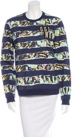 Kenzo Printed Crewneck Sweatshirt w/ Tags Palm Print, Hoodies, Sweatshirts, Kenzo, Crew Neck Sweatshirt, Tags, Stylish, Printed, Sweaters