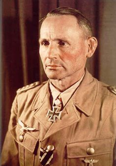 Luftwaffe General der Fallschirmtruppe Hermann Bernhard Ramcke One of 27 to recieve Diamonds to Knights Cross/ Oakleaves/Swords Ramcke was instrumental in leading his paratroop divisions to remain victorious vs overwhelming odds.