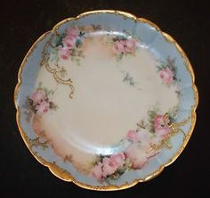 Gorgeous antique porcelain Limoges plate perfect for China Cabinet.
