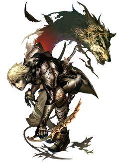 Male Dark Elf from Lineage II