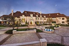 HUGE HOUSE in Dallas, Texas:  This 10 bedroom 10 bathroom mansion was listed on the market for a whooping almost $30 million. The 29,196 square foot estate was crafted over a 3 year period by builder Mark Molthan, architect Robbie Fusch, and interior designer Ashley Astleford.