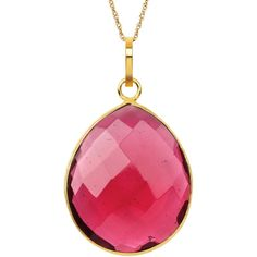 Womens Red Quartz Gold Over Silver Pendant Necklace (One Size) -... (€150) ❤ liked on Polyvore featuring jewelry, necklaces, gold jewelry, silver pendant necklace, gold necklace, gold pendant necklace and red gold necklace